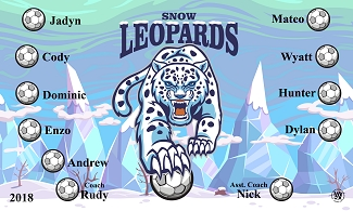B2388 Snow Leopards 3x5 Banner