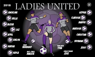 B2392 Ladies United 3x5 Banner