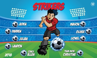 B2396 Strikers 3x5 Banner