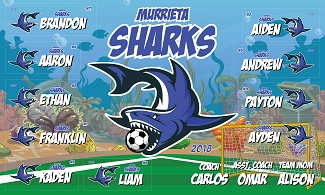 B2398 Murrieta Sharks 3x5 Banner