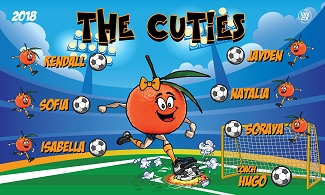 B2400 The Cuties 3x5 Banner