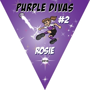 P1010 Purple Divas Triangle Pennant