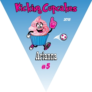 P1035 Kicking Cupcakes Triangle Banner