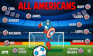 B1544 All Americans Superhero 3x5 Banner