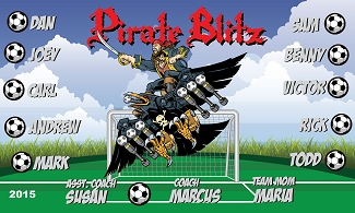 B1568 Pirate Blitz 3x5 Banner
