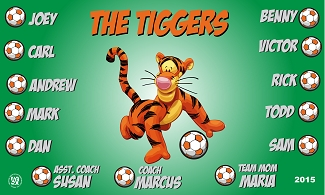 B1575 The Tiggers 3x5 Banner