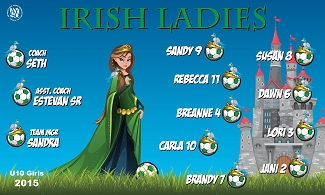 B1594 Irish Ladies 3x5 Banner