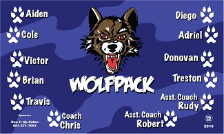 B1726 Wolfpack 3x5 Banner