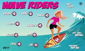 B1762 Wave Riders 3x5 Banner