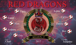 B1768 Red Dragons 3x5 Banner