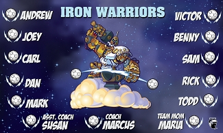 B1868 Iron Warriors 3x5 Banner