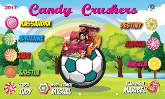 B1913 Candy Crushers 3x5 Banner