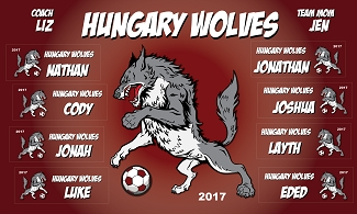 B1916 Hungry Wolves 3x5 Banner