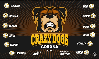 B1966 Crazy Dogs 3x5 Banner