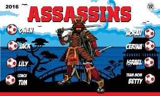 B1972 Assassins 3x5 Banner
