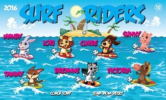 B1981 Surf Riders 3x5 Banner