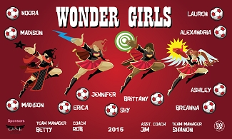 B1983 Wonder Girls 3x5 Banner