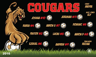 B1984 Cougars 3x5 Banner