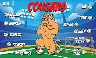 B1988 Cougars 3x5 Banner