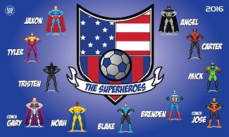 B2012 The Superheros 3x5 Banner
