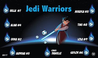 B2162 Jedi Warriors 3x5 Banner
