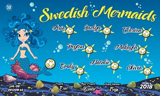 B2211 Swedish Mermaids 3x5 Banner