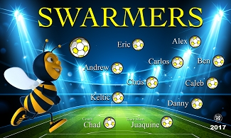 B2216 Swarmers 3x5 Banner