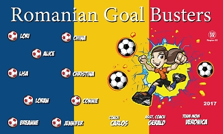 B2245 Romanian Goal Busters 3x5 Banner