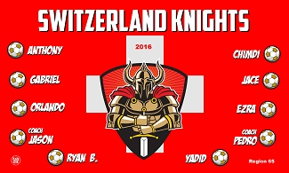 B2255 Switzerland Knights 3x5 Banner