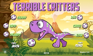 B2282 Terrible Critters 3x5 Banner