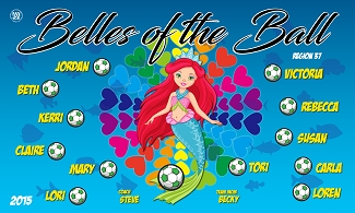 B2302 Belles of the Ball 3x5 Banner