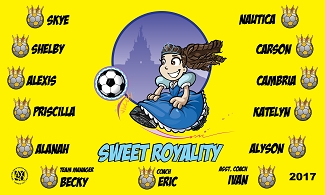 B2318 Sweet Royalty 3x5 Banner