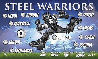 B2324 Steel Warriors 3x5 Banner