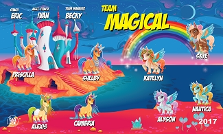B2332 Team Magical 3x5 Banner