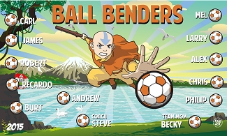 B1547 Ball Benders Superhero 3x5 Banner