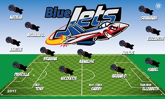 B2077 The Jets 3x5 Banner