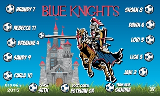 B1566 Blue Knights Lady 3x5 Banner