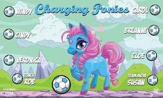 B1690 Charging Ponies 3x5 Banner