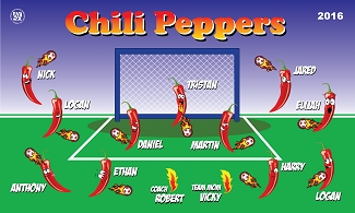 B1729 Chili Peppers 3x5 Banner