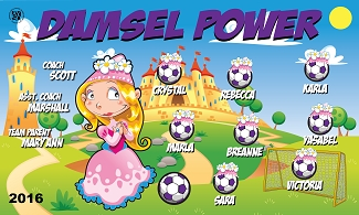 B1669 Damsel Power 3x5 Banner