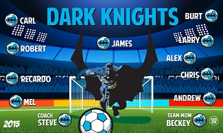 B1543 Dark Knights Superhero 3x5 Banner