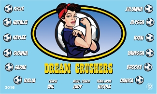 B1802 Dream Crushers 3x5 Banner