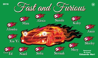 B1803 Fast and Furious 3x5 Banner