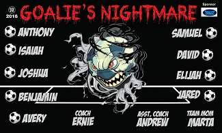B1829 Goalies Nightmare 3x5 Banner