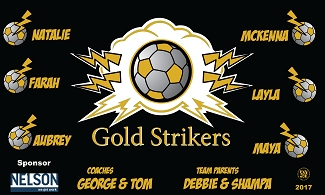B2096 Gold Strikers 3x5 Banner