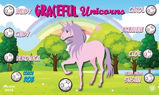 B1692 Graceful Unicorns 3x5 Banner