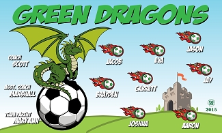 B1866 Green Dragons 3x5 Banner