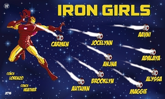 B1704 Iron Girls 3x5 Banner