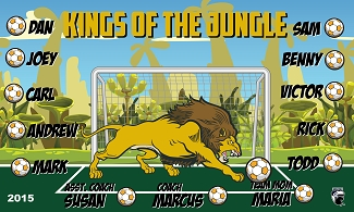 B1589 Kings of the Jungle 3x5 Banner