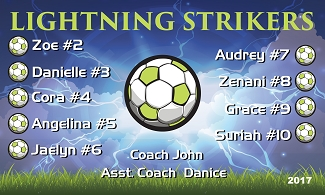 B2025 Lightning Strikers 3x5 Banner
